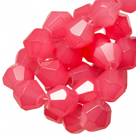 Faceted Beads Bicone (6 mm) Bright Blush Pink (50 pcs)