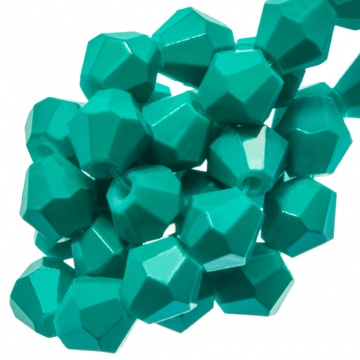 Faceted Beads Bicone (6 mm) Teal (50 pcs)