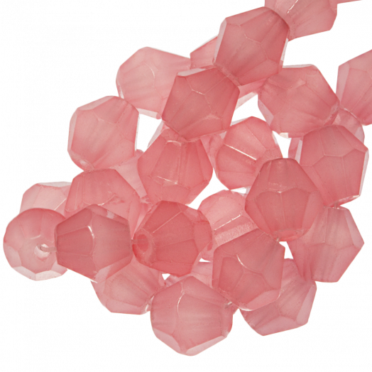 Faceted Beads Bicone (6 mm) Salmon Pink (50 pcs)