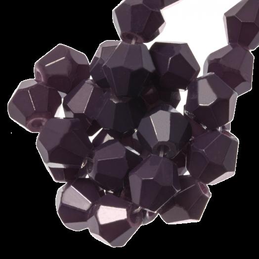 Faceted Beads Bicone (6 mm) Dark Grape (50 pcs)