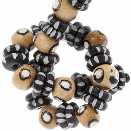Bone Beads (9 x 7 - 10 x 3 mm) Mix Color (38 pcs)