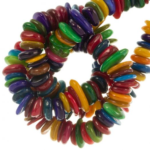 Shell Beads (10 - 5 mm) Mix Color (350 pcs)