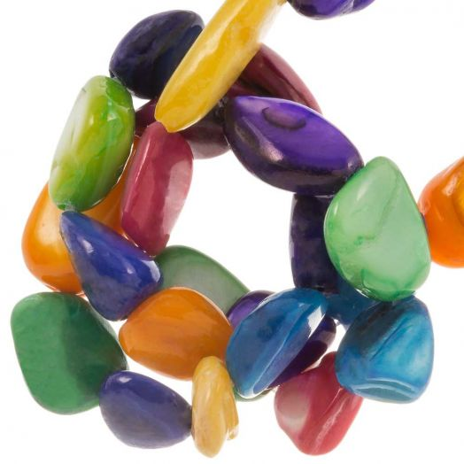 Shell Beads (7 - 14 x 6 - 10 mm) Mix Color (80 pcs)