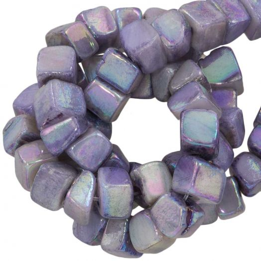 Shell Beads (6 - 7 mm) Electroplate Lilac (76 pcs)