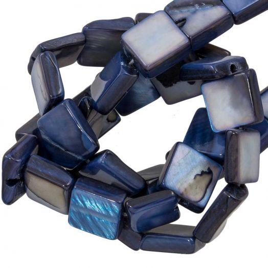 Shell Beads  (9 x 8 mm) Prussian Blue (50 pcs)