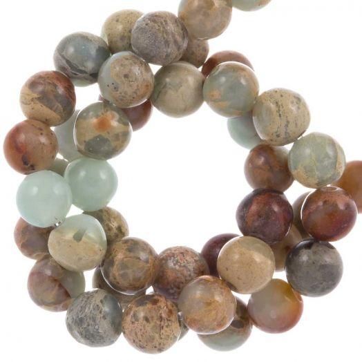 Aqua Terra Jasper beads (4 mm) 100 pcs
