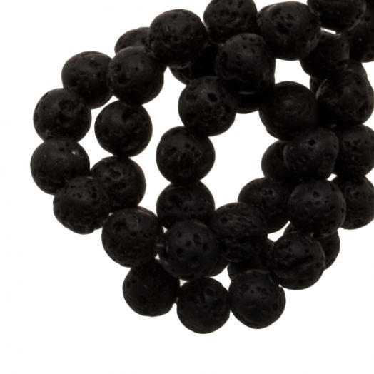 Lava Beads (4 mm) Black (85 pcs)