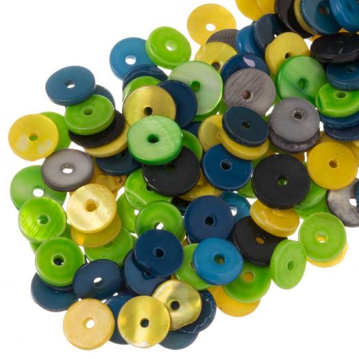 Shell Beads (8 mm ) Mix Color (140 pcs)
