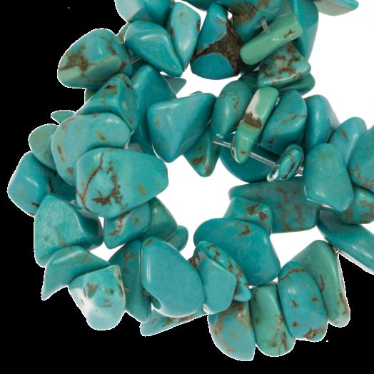 Gemstone Chips Turquoise (5 - 8 mm) 250 pcs