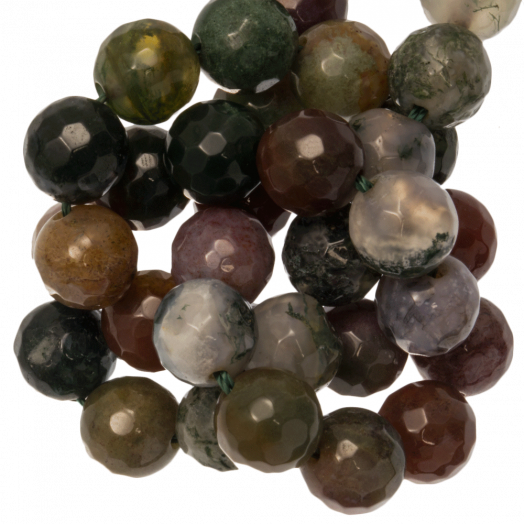 Indian Agate Facet Beads (10 mm) 38 pcs