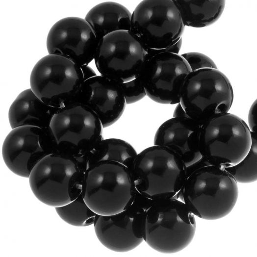 Black Stone Beads (12 mm) 34 pcs
