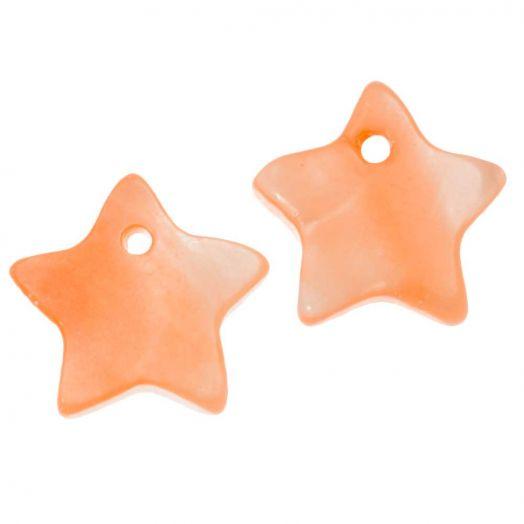 Shell Charm (12 mm) Orange (15 pcs)