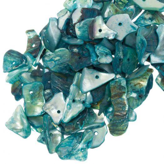 Shell Beads (18 - 5 mm) Light Sea Green (400 pcs)
