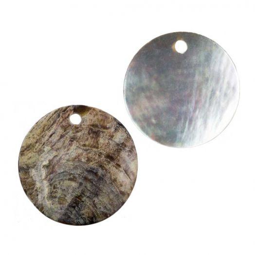 Charm Shell (20 mm) Natural (25 pcs)