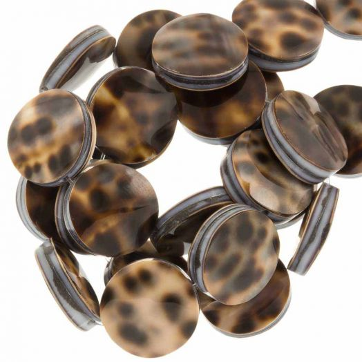 Shell Beads (15 mm) Tiger Cowrie (27 pcs)