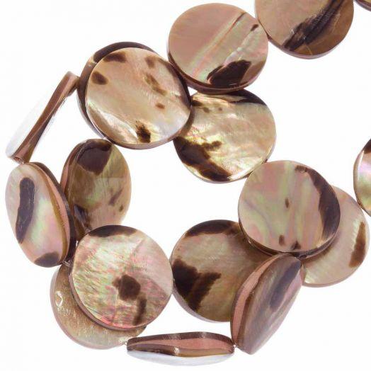 Shell Beads (20 mm) Brown Lip Tiger (27 pcs)
