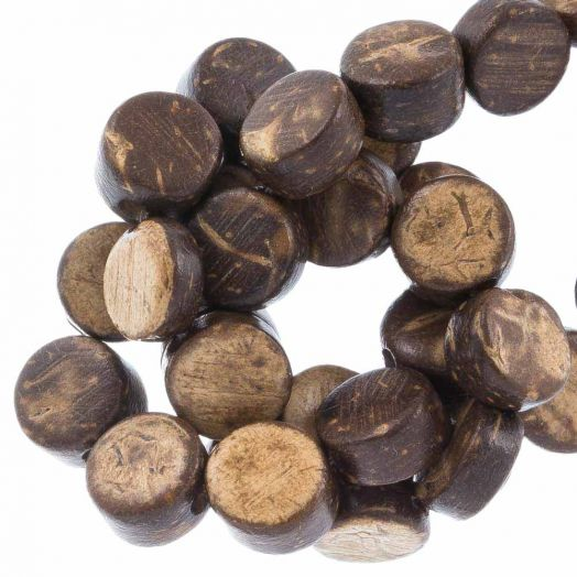 Coconut Beads (8 x 4 mm) Natural Brown (50 pcs)