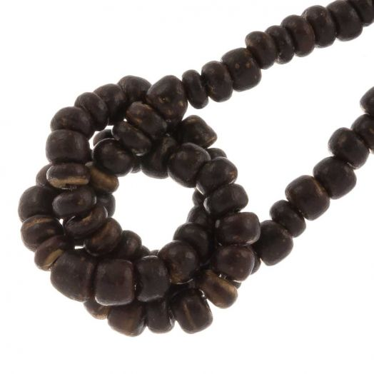 Coconut Beads (2- 3 mm) Natural Brown (110 pcs)