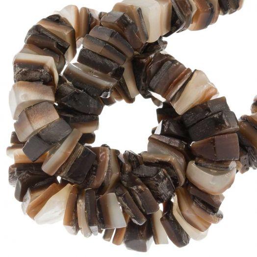 Shell Beads (7 - 8 mm) Brown Lip Shell (180 pcs)