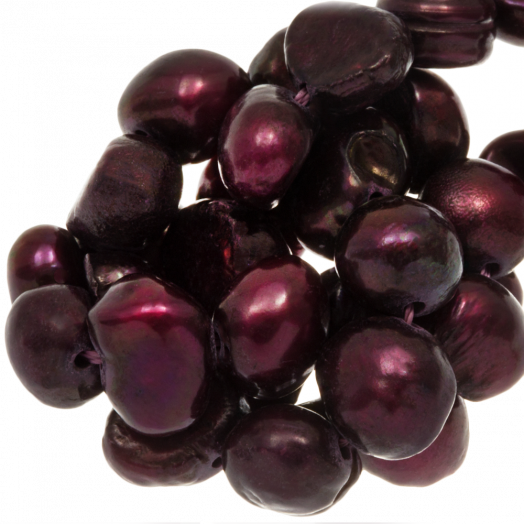 Freshwater Pearls (7-8 mm) Deep Red (50 pcs)