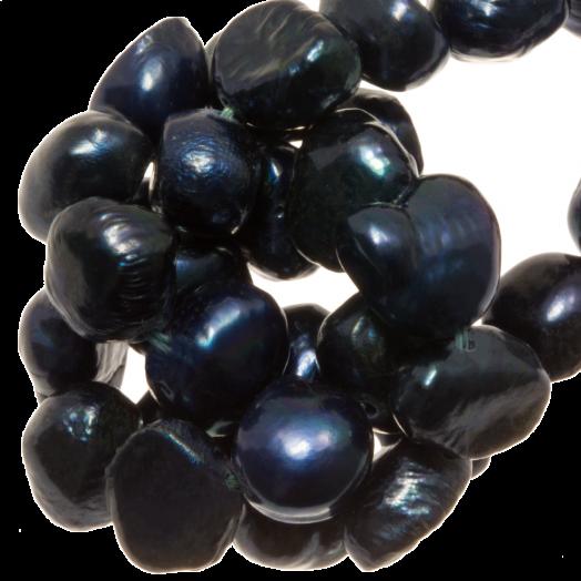 Freshwater Pearls (7-8 mm) Dark Blue (50 pcs)