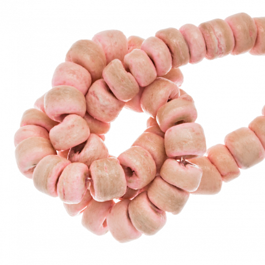Coconut Beads (4 - 5 mm) Candy Pink (110 pcs)