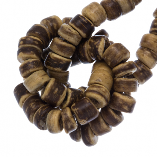 Coconut Beads (4 - 5 mm) Tiger (110 pcs)
