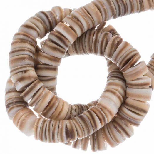 Shell Beads (4 - 5 mm) Natural Brown Shell (165 pcs)