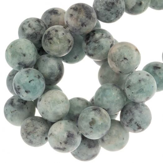 Labradorite Beads (8 mm) Aquamarine (50 pcs)