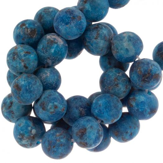 Labradorite Beads (8 mm) Dark Blue (50 pcs)