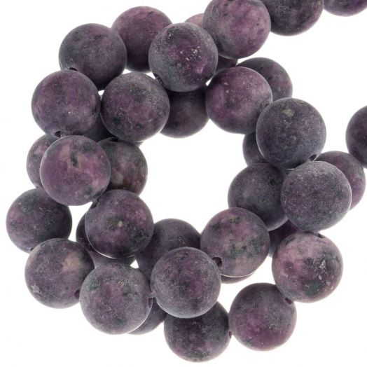 Labradorite Beads (8 mm) Dark Orchid (50 pcs)