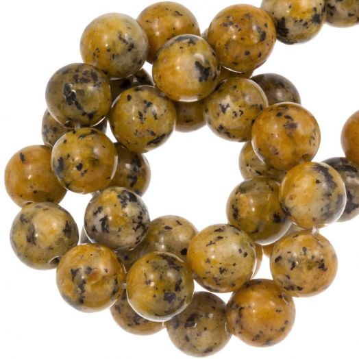 Labradorite Beads (8 mm) Gold Brown (46 pcs)