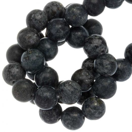 Labradorite Beads (8 mm) Midnight Blue (46 pcs)