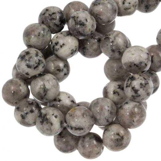 Labradorite Beads (8 mm) Light Grey (46 pcs)
