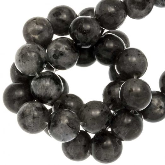 Labradorite Beads (8 mm) Dark Grey (46 pcs)