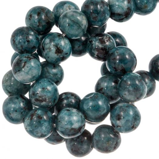 Labradorite Beads (8 mm) Steel Blue (46 pcs)