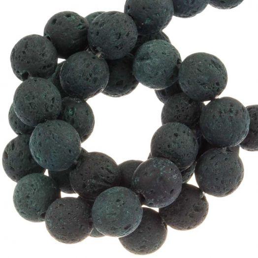 Lava Beads (8 mm) Dark Green (50 pcs)