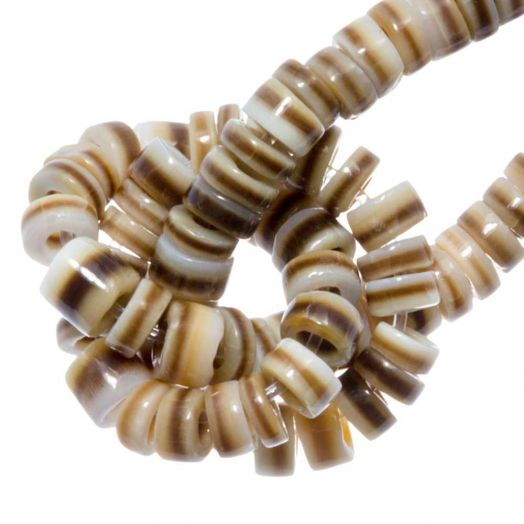 Shell Beads (4 - 5 mm) Voluta Shell (165 pcs)