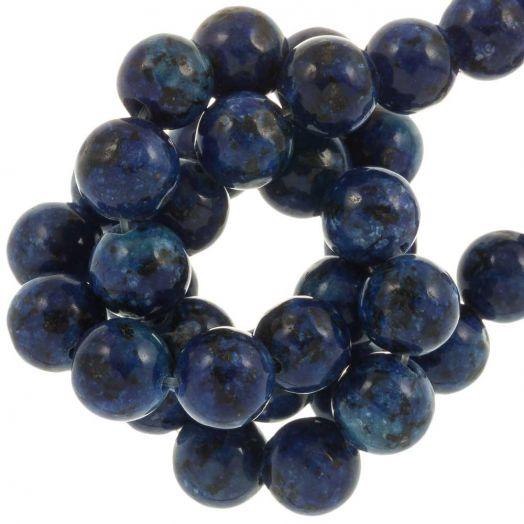 Labradorite Beads (8 mm) Royal Blue (46 pcs)