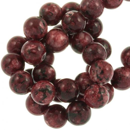 Labradorite Beads (8 mm) Dark Red (46 pcs)