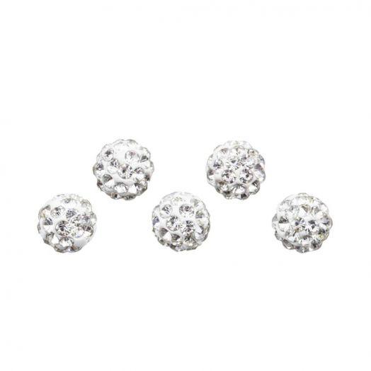 Shamballa Beads (4 mm) Crystal (5 pcs)