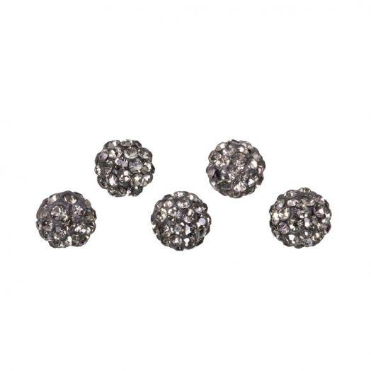 Shamballa beads (4 mm) Black Diamond (5 pcs)