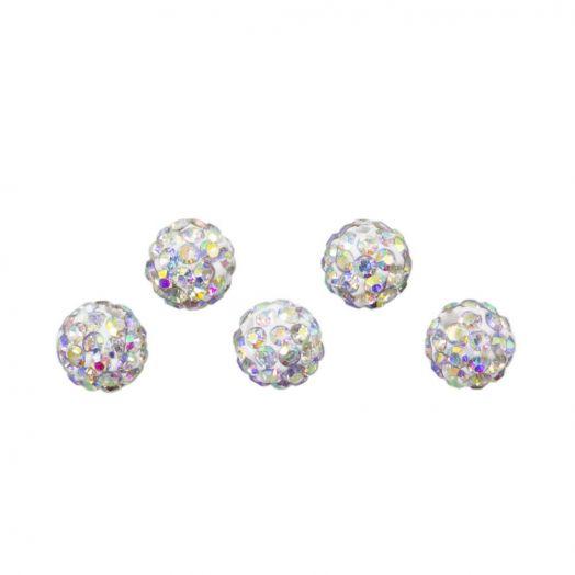 Rhinestone Beads (4 mm) Crystal AB (5 pcs)