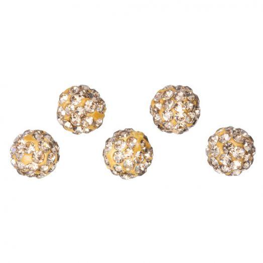 Shamballa Beads (6 mm) Topaz (5 pcs)