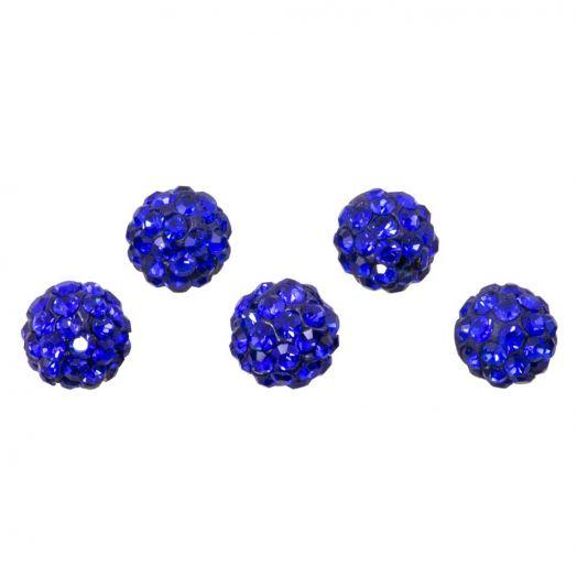 Shamballa Beads (6 mm) Sapphire (5 pcs)