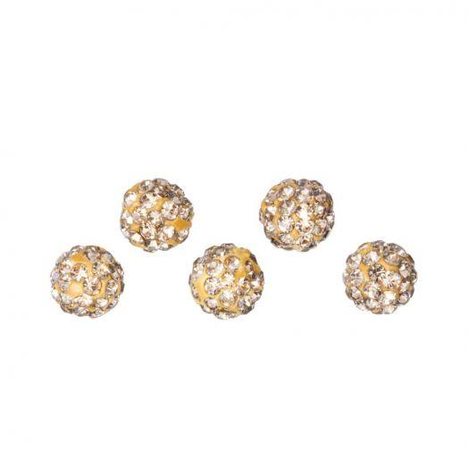 Shamballa Beads (4 mm) Topaz (5 pcs)