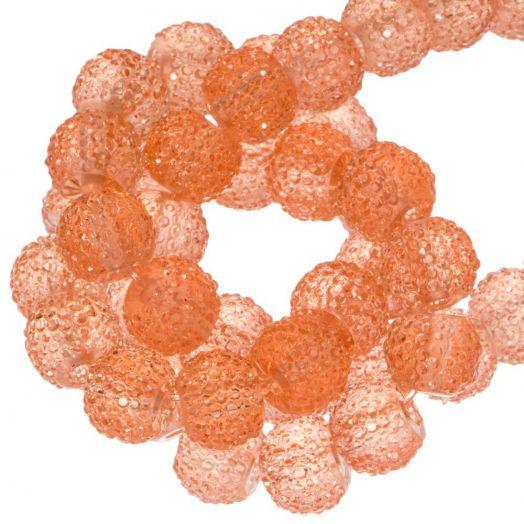 Acrylic Beads Rhinestone (6 mm) Transparent Apricot (30 pcs)