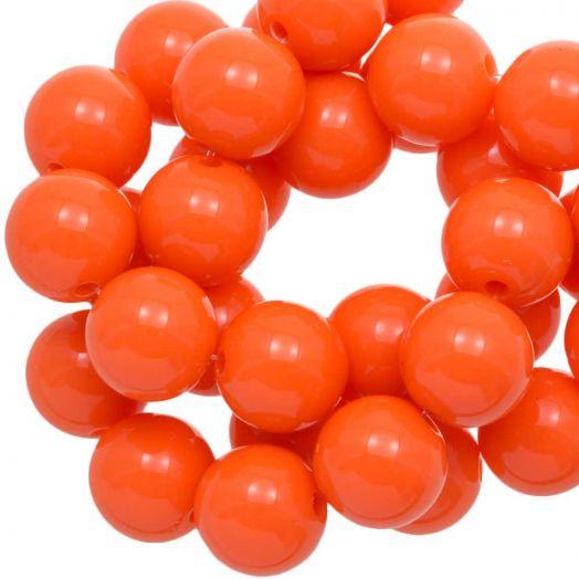 Acrylic Beads (16 mm) Orange (45 pcs)