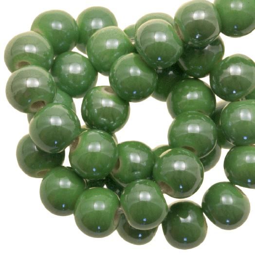 Ceramic Beads (6 mm) Green (25 pcs)