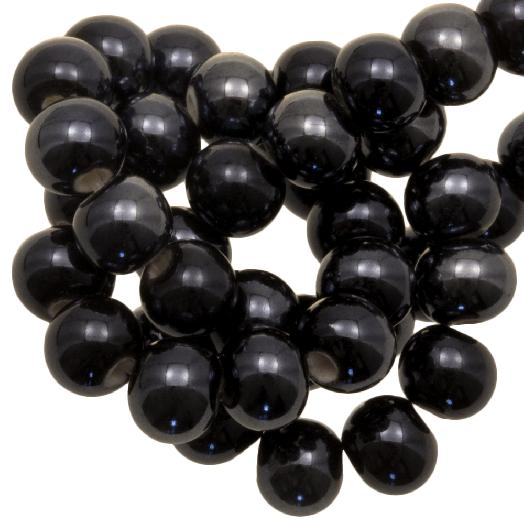 Ceramic Beads (6 mm) Black (25 pcs)